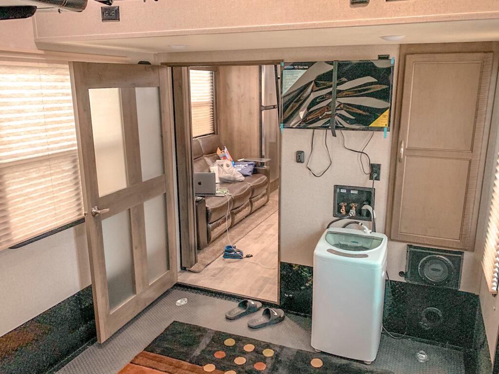 Garage before the dryer installation