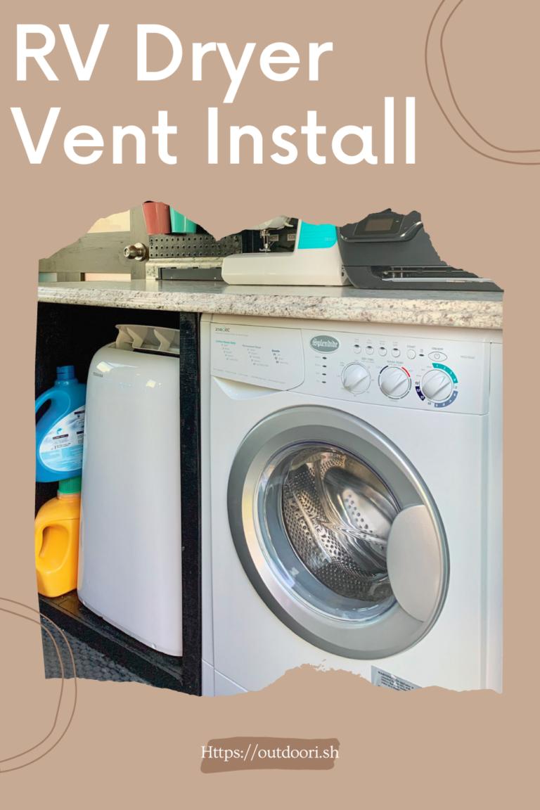 RV Dryer Vent Install