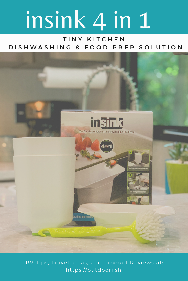 insink 4 in 1 Tiny Kitchen dishwashing and food prep solution