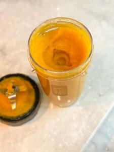 pumpkin puree in blender