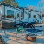 campsite setup in Livingston, TX