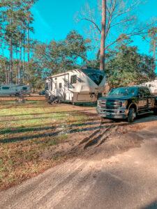 muddy RV site