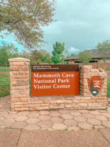 mammoth cave national park visitor center sign