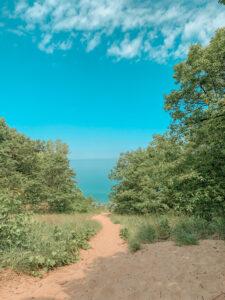 Sandy path to the lake
