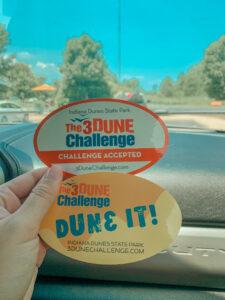 The 3 Dune Challenge Stickers