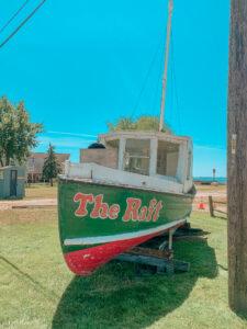 old boat on land