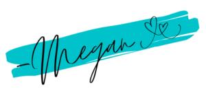 Megan signature with hearts