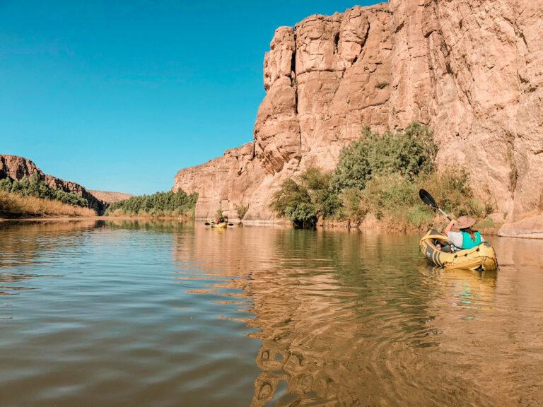 Megan kayaking Rio Grande