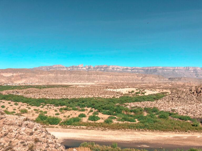 Views of Boquillas, Mexico from Rio Grande Nature Trail
