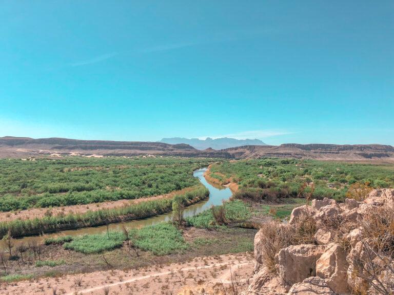 View of Rio Grande looking into Mexico