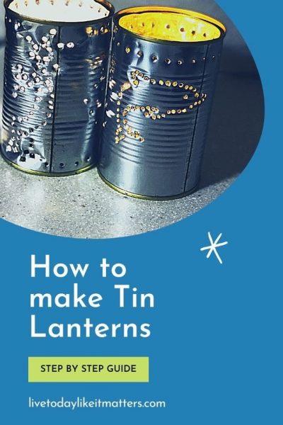 Tin can lantern pin