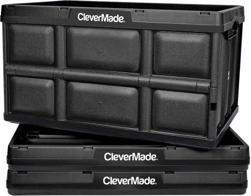 Collapsible storage bins