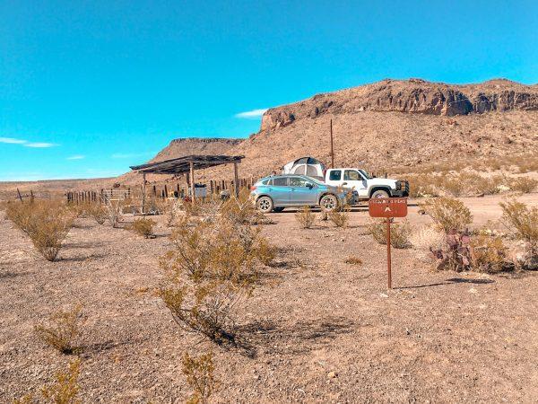 Escondido Pens Campsite at Big Bend Ranch State Park