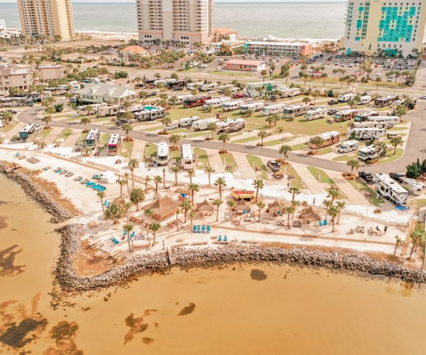 Pensacola beach rv resort from above
