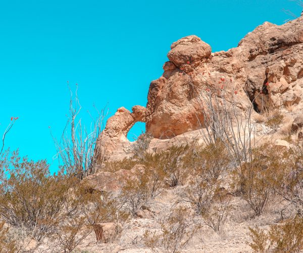 small arch formation on the chimney trail