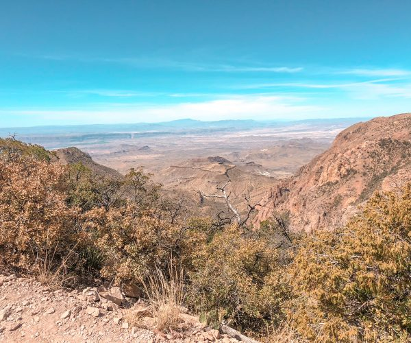 View from the south rim with Santa Elena in background