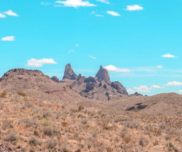 Mule Ears formation in big bend national park