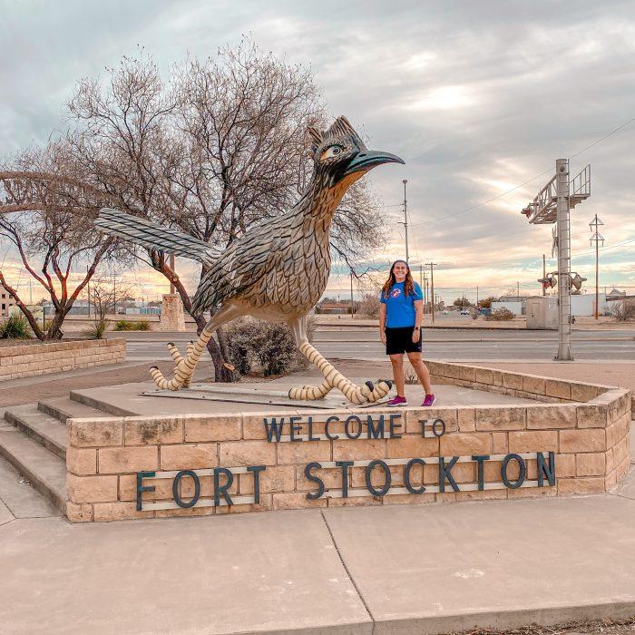 Fort Stockton Texas road runner statue