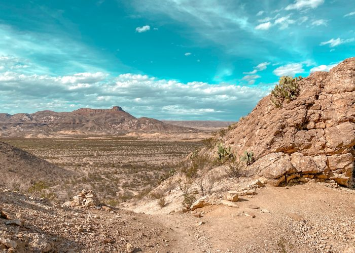 Views of Lajitas from the Mesa de Anguila trail