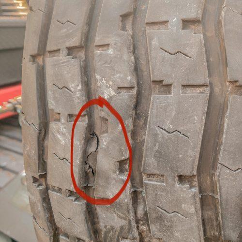 gash in RV trailer tire