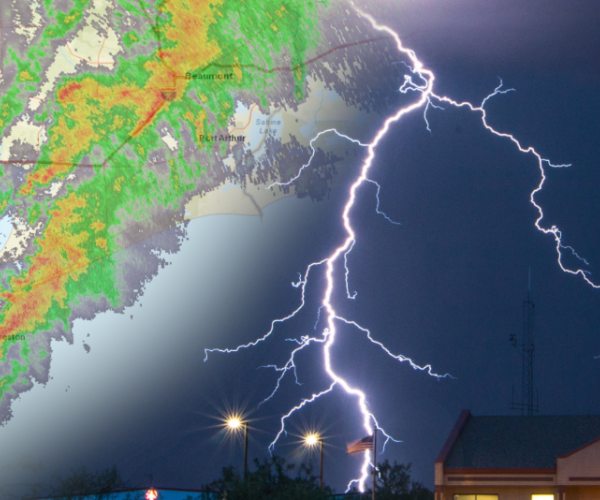 weather radar with lightning