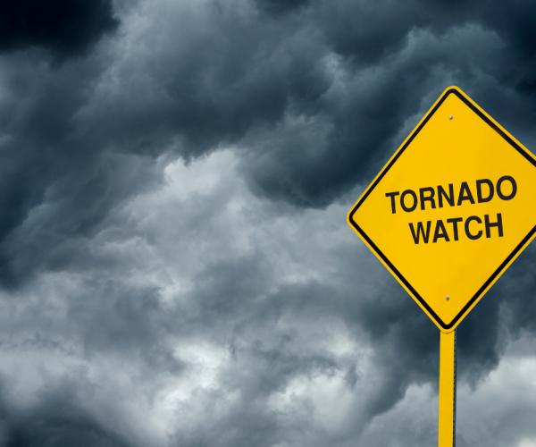 Tornado Watch Warning Sign