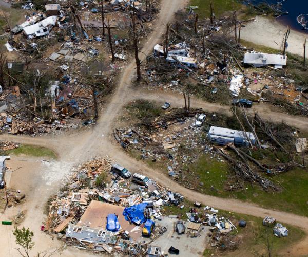 mobile home park / rv park hit by tornado