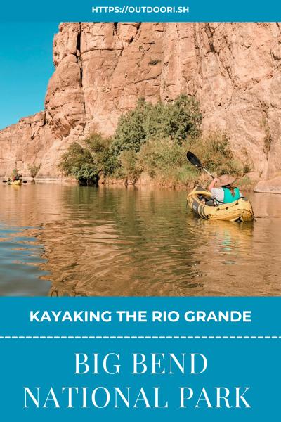 Rio Grande kayaking pinterest pin