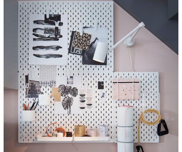 Ikea pegboard organizer